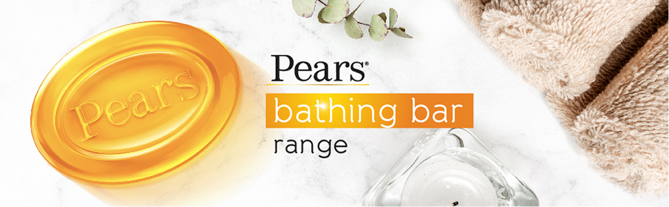 Pears Moisturising Bathing Bar Soap with Glycerine Pure & Gentle - For Golden Glow