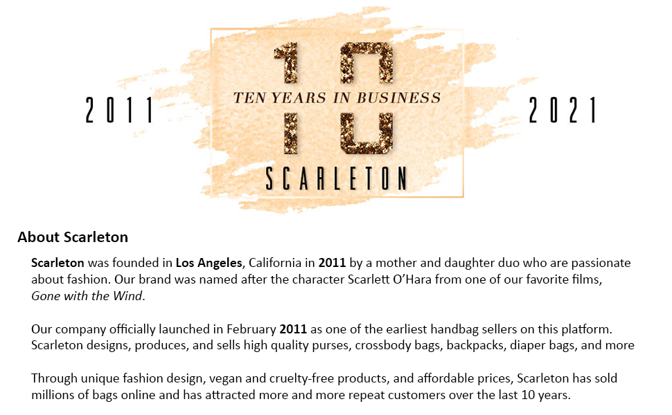 scarleton celebrating 10 years in the business