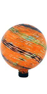 Sunnydaze Sunset Sky Glass Outdoor Gazing Ball Globe - 10-Inch