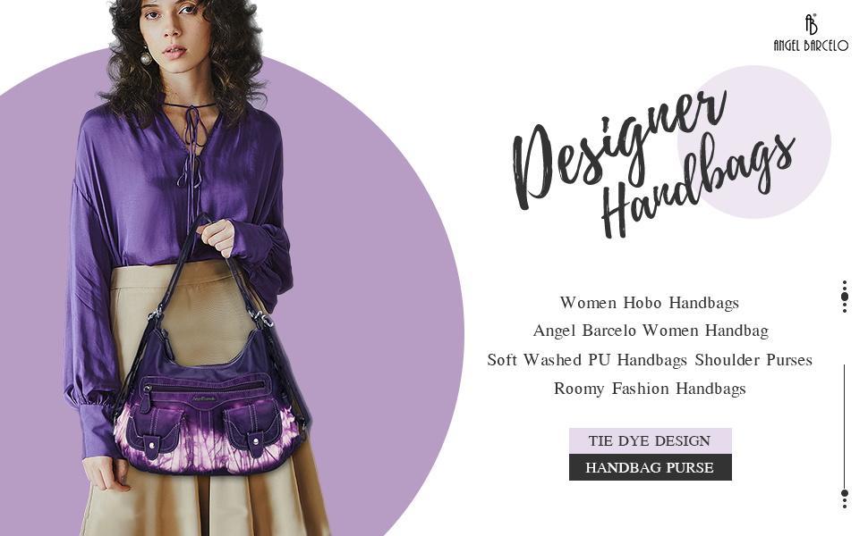 Angel Barcelo Women Multifunctional Soft Leather Handbag Purses Shoulder Hobo Backpack