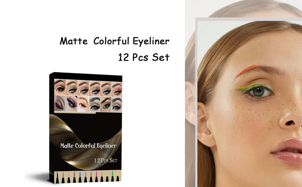 matte colorful eyeliner