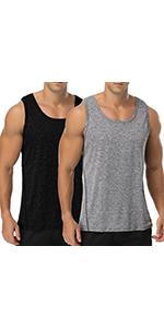 Babioboa Menamp;amp;#39;s 2 Pack Workout Tank Tops Gym Athletic Sleeveless T-Shirts