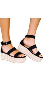 platform sandals strappy