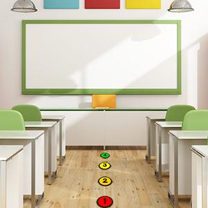 back to school classroom supplies sitting classroom floor mark spots kindergarten