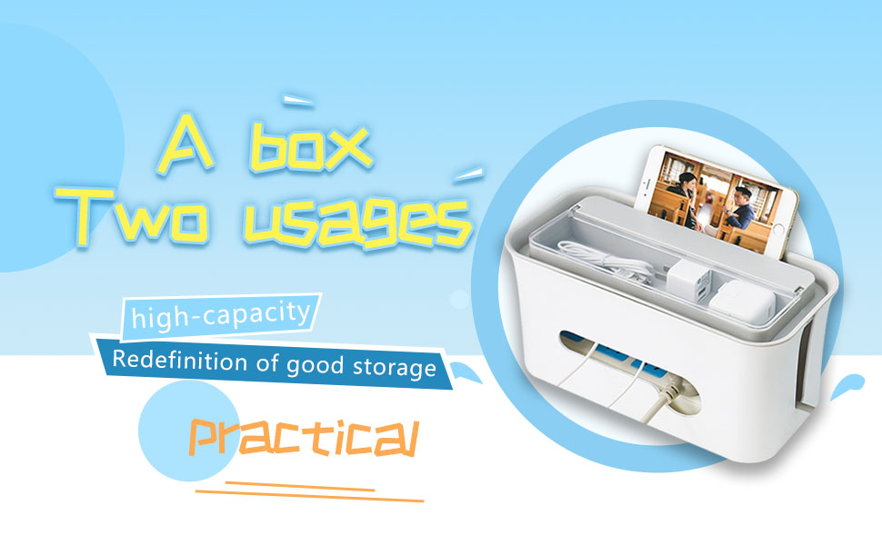 Multifunctional wire storage box