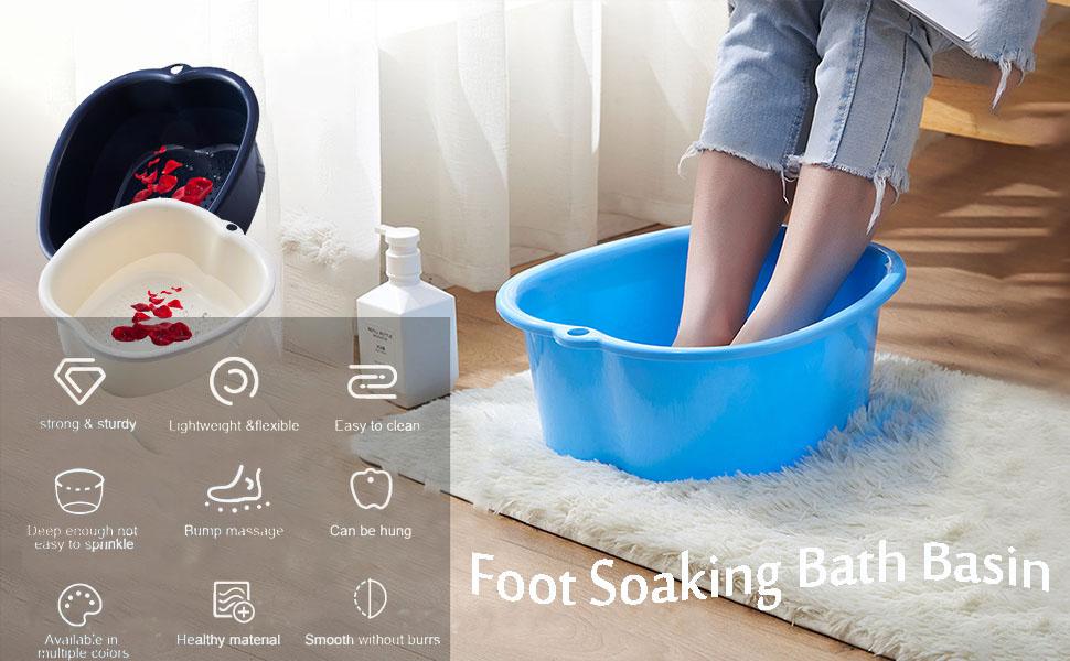 foot soaking bath basin