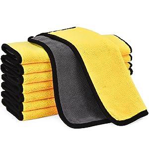 Small microfiber car wash towel 8 Pack