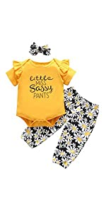 baby girl floral outfit