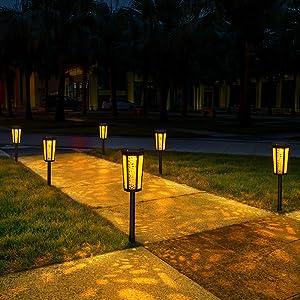 Amber Warm Solar Landscape Lights