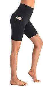 Kurze Leggings Damen kurz Hose Hohe Taille Sporthose