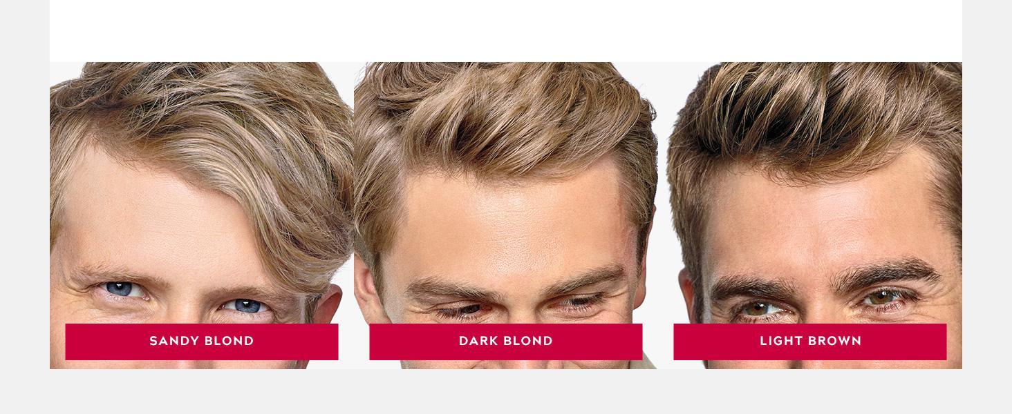 Shades: Sandy Blond, Dark Blond, Light Brown