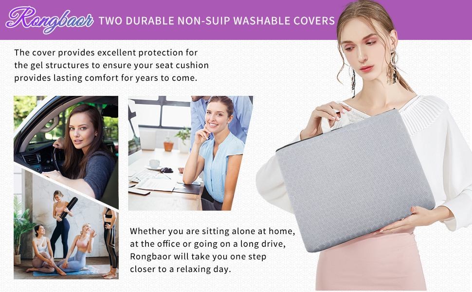 TWO DURABLE NON-SUIP WASHABLE COVERS