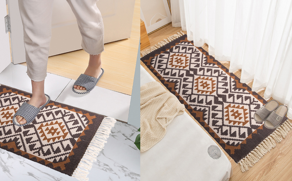 2 Pack Bohemian Rugs Doormats