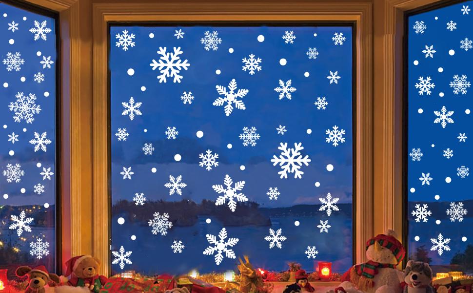306pcs Christmas Snowflakes Window sticker Decorations Kit