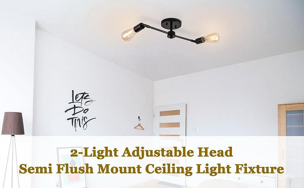 directional ceiling light black