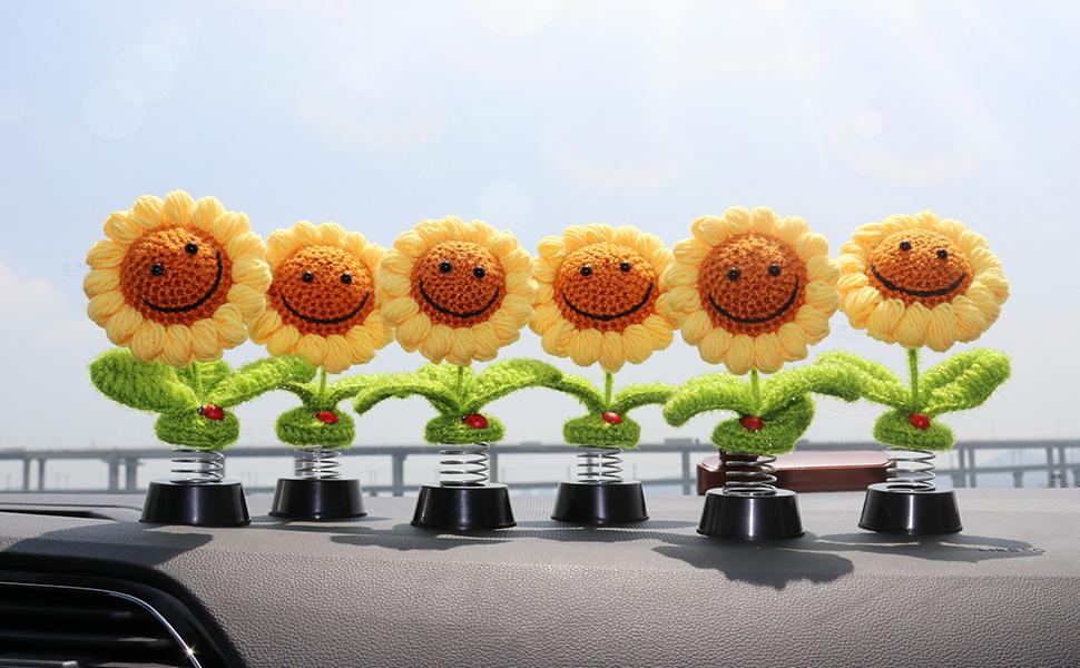 Sunflower Car Dashboard Decorations