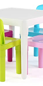 kids plastic table and chair set children furniture playroom easy assembly snap together parts