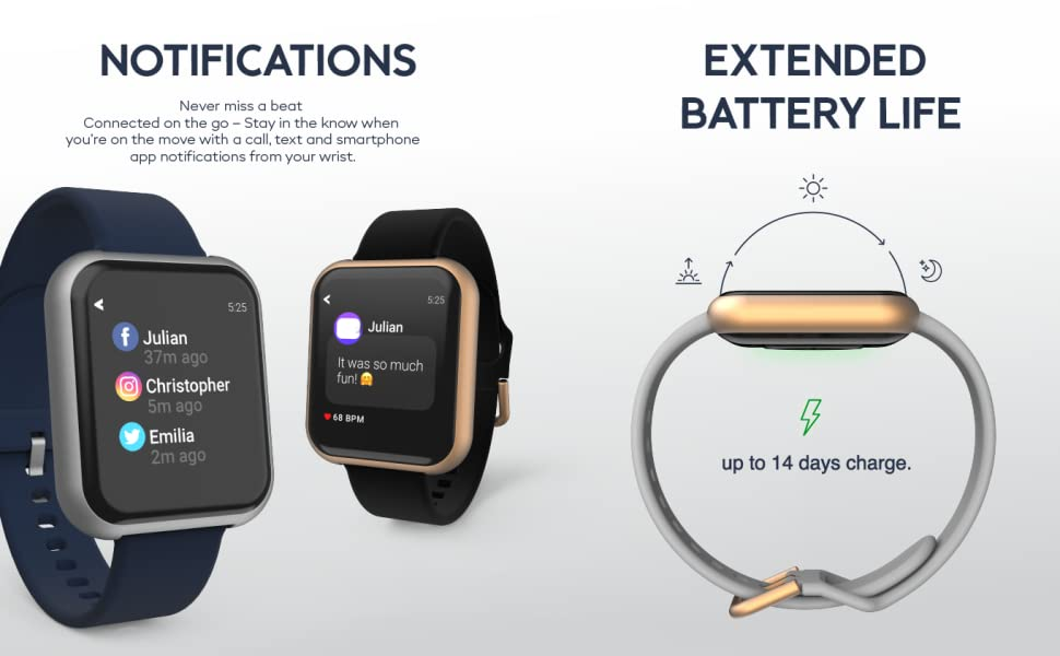 Notifications and extended battery life