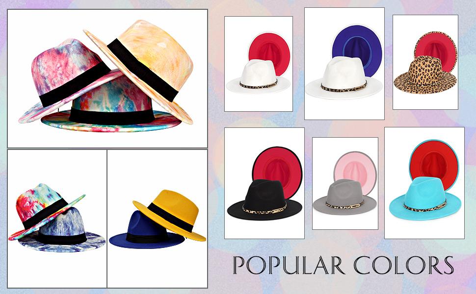 Tie Dye Fedora Hats