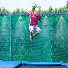 trampoline misting cooling system