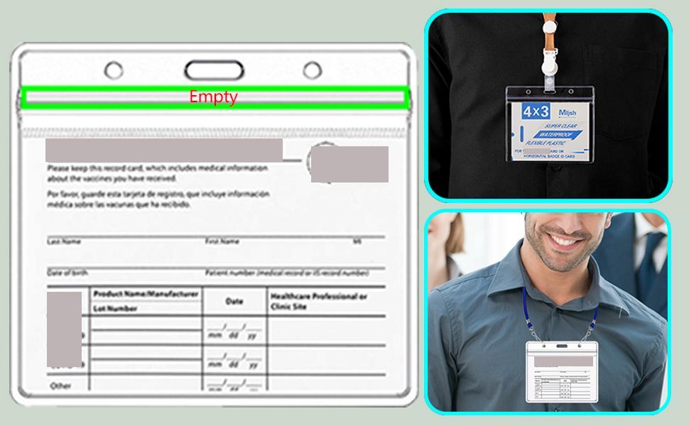 id card holder clear