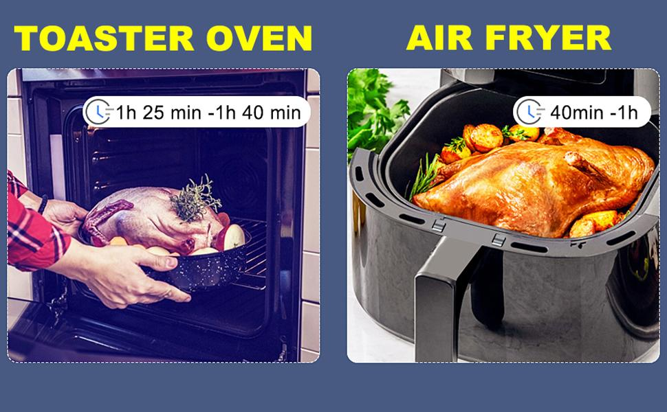 choose an air fryer instead of a toast oven