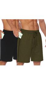 Men's 2 Pack Gym Workout Shorts