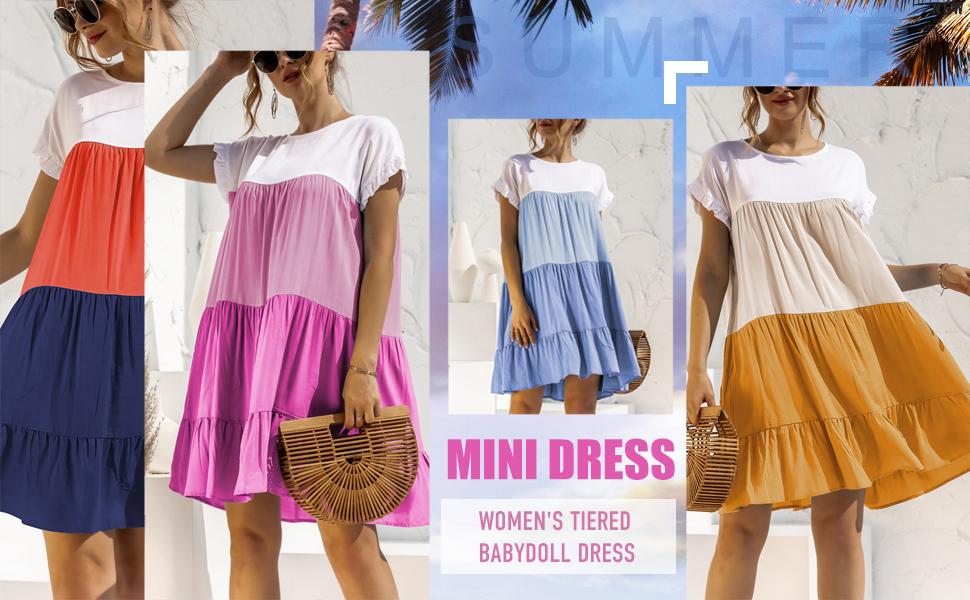 women's tiered babydill dress