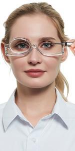 OCCI CHIARI Eye Make Up Reading Glasses Women Magnifying Eyewear Rotatable Cosmetic Eyeglasses