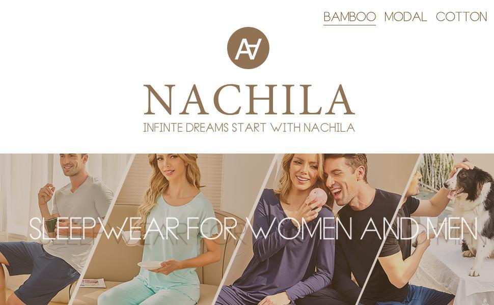 NACHILA is a professional pajama brand specializing in sleepwear for women and men.