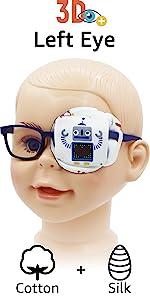 kids eye patches boys gray robot