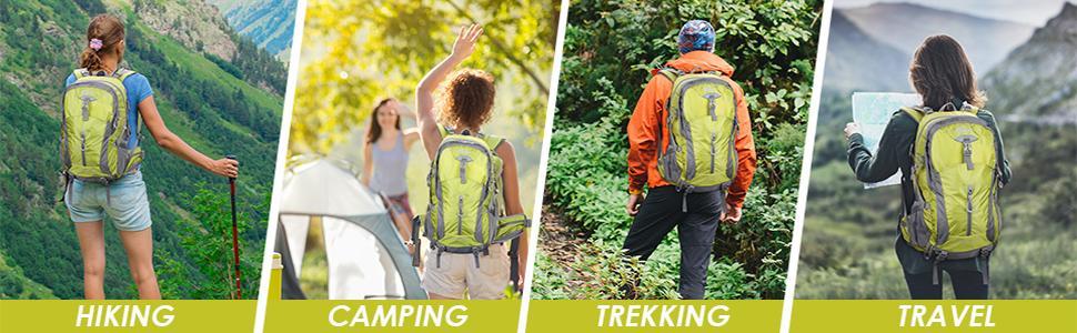Hiking Backpack 40L Camping Backpack Hiking Daypack Lightweight Travel Backpack Outdoor Backpack