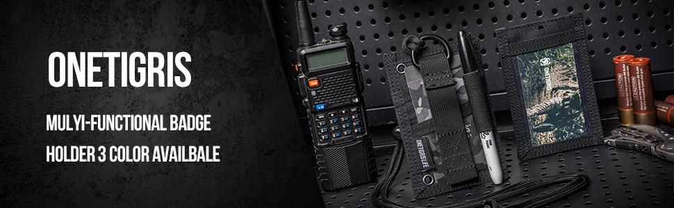 Badge Holder Lanyard RFID Blocking Card Holder with Adjustable Soft Neck Strap