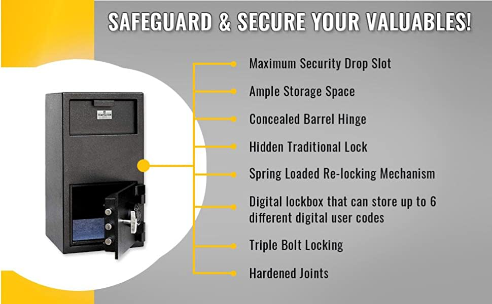 Safely secure your cash and valuables with our innovative safe designs