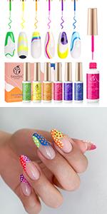 Gel art nail liner
