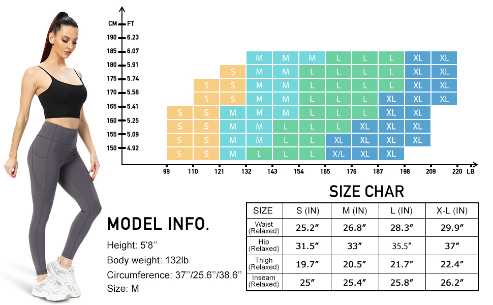 Size Chart for Reference