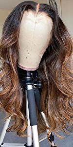 Ombre Brown Lace Front Wig Human Hair