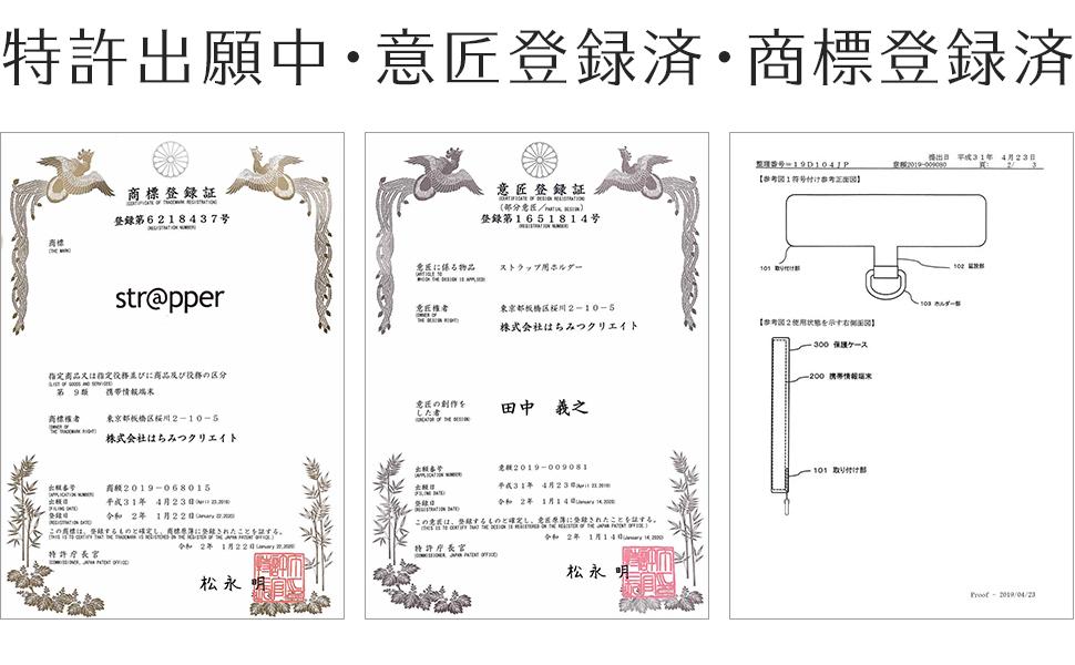 特許出願中・商標登録済・商標登録済