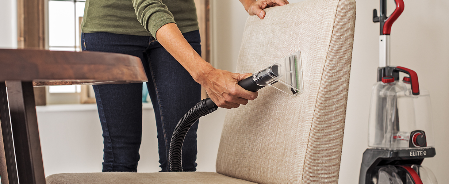 Above floor cleaning reach: Clean upholstery and furniture, or even spot clean carpets
