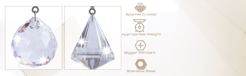 Ceiling Fan Pull Chain Ornaments Crystal Extender Decorative Chains Prism Charm Pendant Pulls Clear