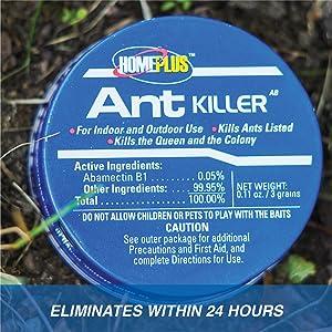 Eliminates Within 24 Hours