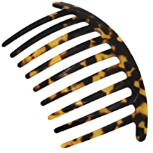 Handmade Haircomb with a Unique Cut and Pattern and Tortoiseshell Coloring