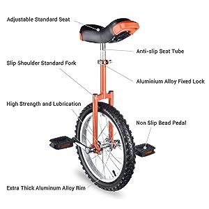"""16"""" Inch Wheel Unicycle"""