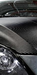 3D Carbon Fiber Shiny Black