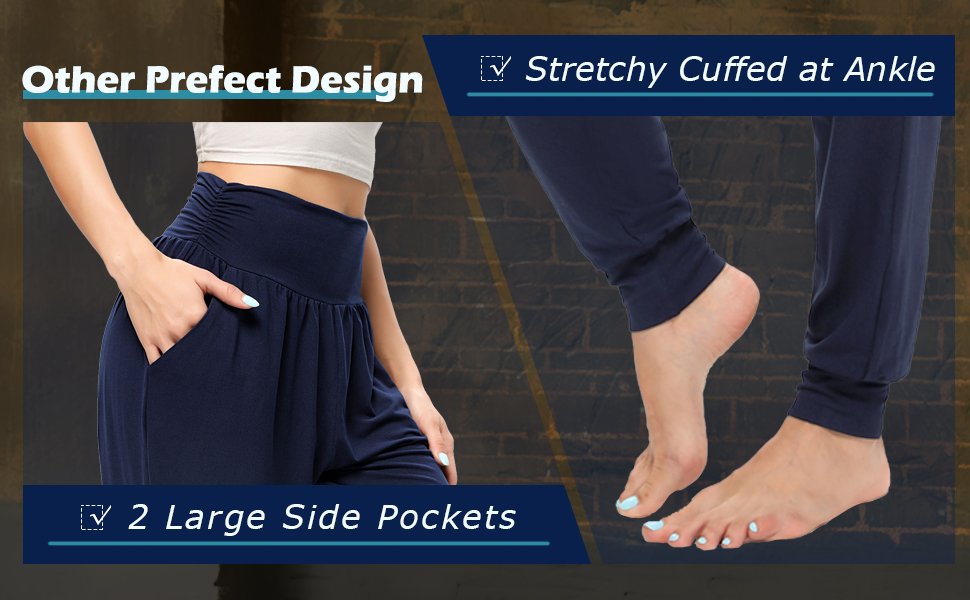 other prefect design 2 large side pockets stretchy cuffed at Ankle