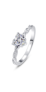 925 Sterling Silver Ring Engagement Rings for Women