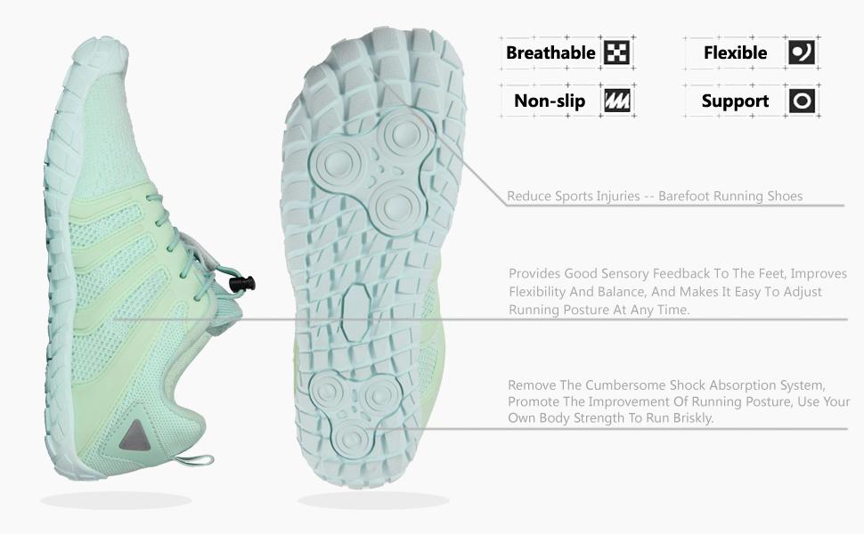 Oranginer Women's Barefoot Shoes - Wide Toe Box - Minimalist Cross Training Shoes