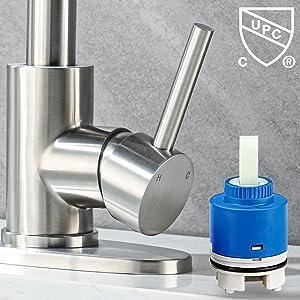 Anpean Single Handle Bathroom Sink Faucet Nickel