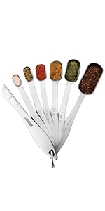 rectangular spoons fit in spice jar includes leveler