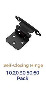 Ravinte 1/2 inch Overlay Cabinet Hinges Black Semi-Concealed Cupboard Hinges